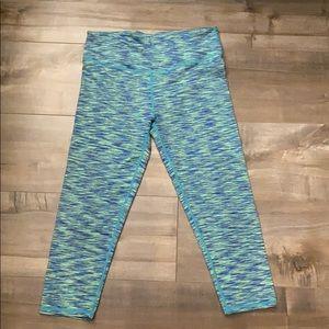 FABLETICS: Green/Blue Cropped Leggings